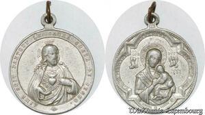 S9306 Médaille Papal Vatican Le Sacré Cœur de Jésus ->Make offer