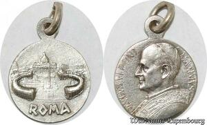 S9308 Médaille Papal Vatican Paulus VI Pont Max Roma Silvered ->Make offer