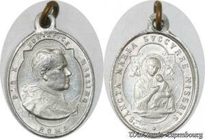 S9318 Médaille Papal Vatican Pie X Sancta Maria Svccve Miseris Massimo Roma