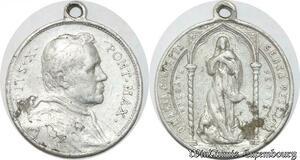 S9321 Médaille Papal Vatican Pie X Ponti Fex ->Make offer