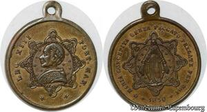 S9323 Médaille Papal Vatican Leo XIII Pont Max 1830 ->Make offer
