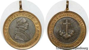 S9325 Médaille Papal Vatican Leo XIII Pont Max 1887 Sacerdotio ->Make offer