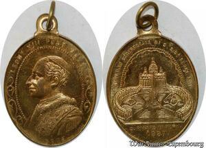 S9334 Médaille Papal Vatican Leo XIII Pont Max Guibileo S. Pietro Roma 1887