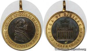S9348 Médaille Papal Vatican Leo XIII Pont Max 1893 Giubelio Chiesa SUP
