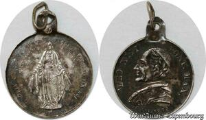 S9352 Médaille Papal Vatican Leo XIII Pont Max Roma Silvered ->Make offer