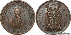 S9356 Médaille Papal Vatican Leo XIII S. Piee S. Paul élection 1878