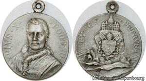 S9358 Médaille Papal Vatican Leo XIII Saint Petrvs Silvered >Make offer
