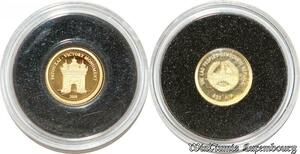 S9471 Rare Laos 500 Kip 2008 Patouxai Victory République Or Gold PF BE