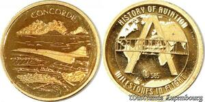 S9485 France Or Concorde History of Aviation Or Gold PF BE Proof