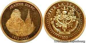 S9503 Monnaie Or Jeanne d'Arc 2001 PF BE Or Gold -> Faire Offre