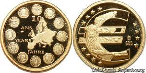 S9508 Allemagne Or 10 Ans de l'Euro 2009 Or Gold PF BE -> Faire Offre