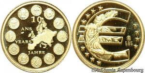 S9509 Allemagne Or 10 Ans de l'Euro 2009 Or Gold PF BE -> Faire Offre