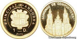 S9529 Andoa 1 Diner Santiago de Compostella 2010 PF BE Or Gold -> Faire Offre
