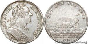 S9591 Rare Jeton Louis XV Commerce1750 Quo non hac duce Argent
