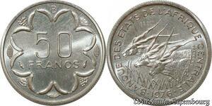 S9624 Afrique centrale 50 Francs Essai Elands Bazor 1976 B FDC -> Faire Offre