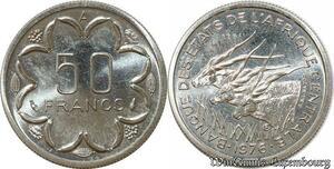 S9625 Afrique centrale 50 Francs Essai Elands Bazor 1976 A FDC -> Faire Offre