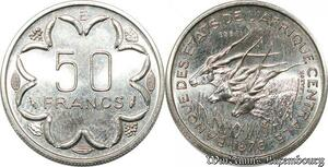 S9628 Afrique centrale 50 Francs Essai Elands Bazor 1976 E FDC -> Faire Offre