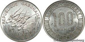 S9636 Gabon 100 Francs Essai Elands 1971 FDC -> Faire Offre