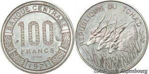 S9638 Tchad 100 Francs Essai Elands 1971 FDC -> Faire Offre