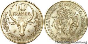 S9644 Madagascar 20 Francs Essai Ariary Roa 1970 FDC -> Faire Offre