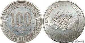 S9645 Tchad 100 Francs Essai Elands Bazor 1975 FDC -> Faire Offre