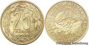 S9698 Afrique Equatoriale Cameroun 25 Francs Essai Elands Bazor 1958 FDC