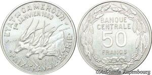 S9705 Cameroun 50 Francs Essai Elands Bazor 1960 FDC -> Faire Offre