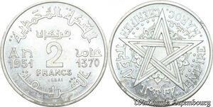S9725 Maroc Mohammed V 2 Francs Essai Hainaut 1370 1951 FDC -> Faire Offre