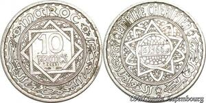 S9733 Maroc 10 Francs Essai Mohammed V 1366 1946 SPL FDC -> Faire Offre