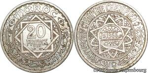 S9734 Maroc 20 Francs Essai Mohammed V 1366 1946 SPL FDC -> Faire Offre