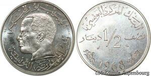 S9754 Tunisie 1/2 Dinar Essai Bourguiba 1968 FDC -> Faire Offre