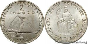 S9774 Océanie Polynésie 2 Francs Essai Bâteau Arivaud 1948 FDC -> Faire Offre