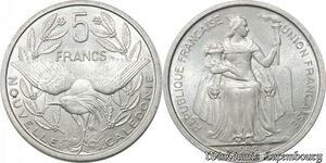 S9788 Nouvelle-Calédonie 5 Francs Essai Minerve Oiseau Bazor 1952 FDC