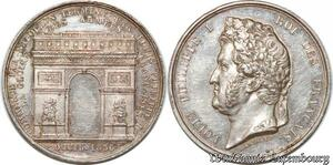 S9837 Médaille Louis Philippe I Arc de Triomphe 1836 Argent Silver