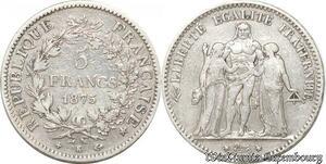 S9851 5 Francs Hercule Dupré 1875 K Bordeaux Argent Silver -> Faire Offre