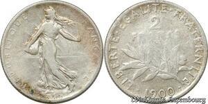 S9917 2 Francs Semeuse 1900 Argent Silver -> Faire Offre