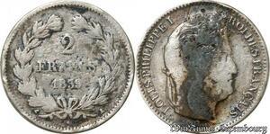 S9930 2 Francs Louis Philippe 1839 A Paris Argent Silver -> Faire Offre