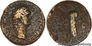 S6004 Domitian 81-96 As 90–91 Imp Caes Domit AVG Germ Cos XV CENS