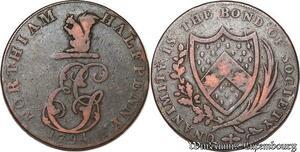 S6020 UK great Britain England Sussex Northiam Halfpenny Token 1794