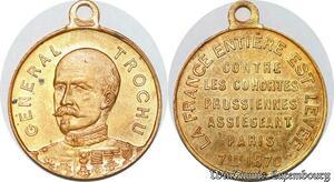 S6050 Medal Medaille 1870 Général Trochu Proclamation Republic PRussiennes SPL
