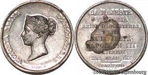 S6059 Rare Second Empire Empereur Napoléon III recoit Reine Victoria GB 1855