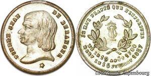 S6066 Médaille Piee Jean Beranger Né 19 Août 1780 Mort 16 Juillet 1857