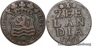 S6072 Pays -Bas Duit Oord Zeelandia 1761 Liard ->Make offer