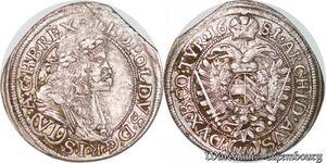 S6087 Autriche Haus Habsburg Wien 6 VI Kreuzer 1681 Leopold I MM Silver
