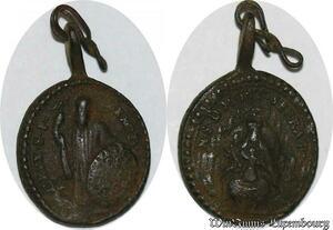 S6107 Medaille Espagnole Crux S P Christ Mont Seat