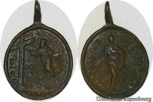 S6108 Medaille XVII XVIII Papal States Vatican Pro or com Cypertion Roma