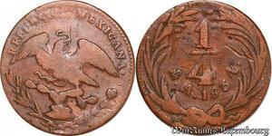 S6131 Mexico 1/4 real 1834 Cuartillo Republica Mexicana ->Make offer