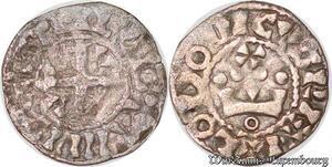 S6173 Rare Louis VI denI d'Etampes 3e type avec 4 besants ->Faire Offre