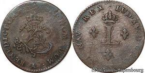 S6193 2 Sols des Colonies Louis XV A Paris ->Faire Offre