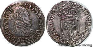 S6202 Rare Henri III teston 2e type 1575 I Limoges Argent Silver Qualité !